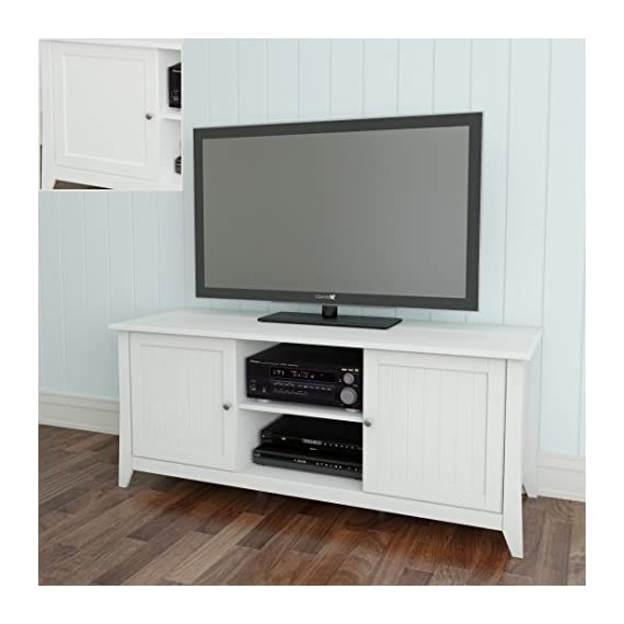 Nexera Vice Versa TV Stand 202103, 58-Inch, White - 3 adjustable shelves / 6 storage sections 2 open spaces for electronic devices and home theatre central speaker 2 closed sections with adjustable shelves and doors to store all your DVDs, accessories, etc. - tv-stands, living-room-furniture, living-room - 415VPdpFG5L. SS570  -