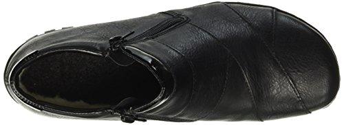Botines Schwarz Negro Mujer L4673 Schwarz Rieker para 5A40waB0q
