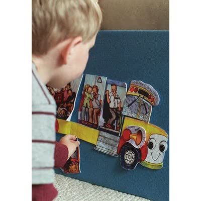 Build a Bus- Wheels on the Bus Felt Figures for Flannel board Stories- Precut: Toys & Games