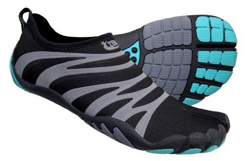 ZEMgear Women's Terra Split Toe Shoes (6, Black/Pewter Reflective)
