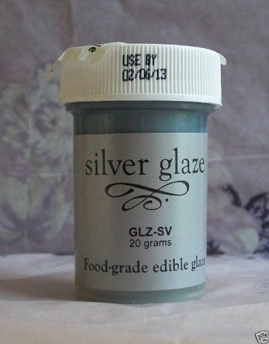 Amazon.com : Food Grade Edible Color Cake & Fondant Glaze-Silver ...
