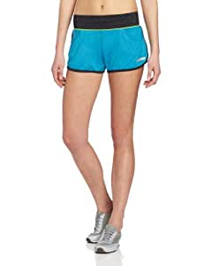 Asics Women's Abby 3-Inch Short, Large, Atomic Blue/Neon