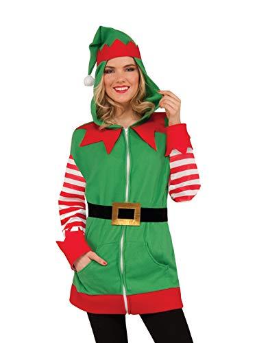 Forum Novelties North Pole Christmas Elf Hoodie (1 Piece) -