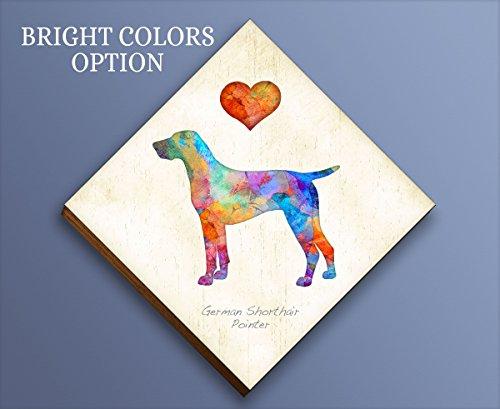 (German Shorthair Pointer Diamond Shaped Mounted Dog Art Print by Dan Morris)