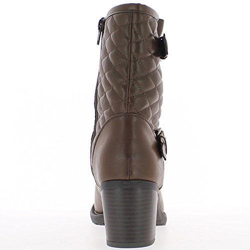 der Stiefel ChaussMoi cm Ferse gepolsterten 7 an Brown großen PtxqZF