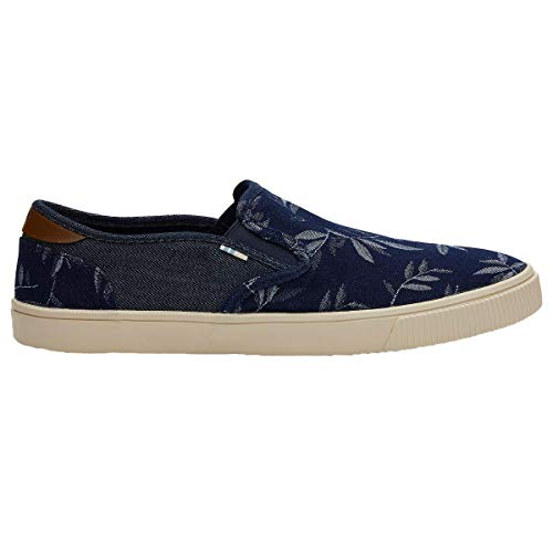 TOMS Men's Baja Slip-On Shoes, Size: 10 D(M) US, Color: Navy Leaf Denim