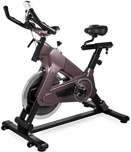 Bisujerro Bicicleta Estática de Spinning Volante 18 KG Bicicleta de Ejercicios Profesional Bici Spinning Volante de Inercia Bicicleta Estática para Hacer Spinning en Casa de Altura Ajustable: Amazon.es: Deportes y aire libre