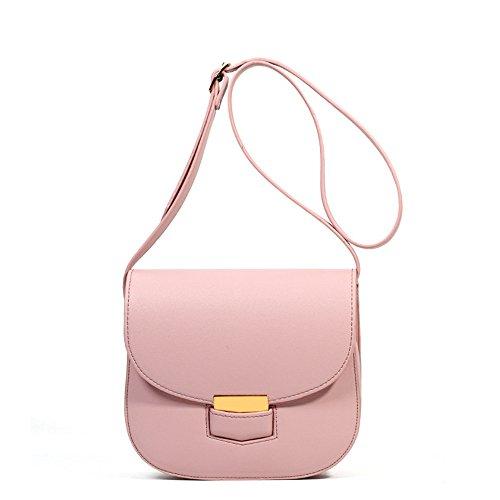 GWQGZ Bolso De Hombro De Color Puro Moda, Bolso De Moda, Rosa Pink