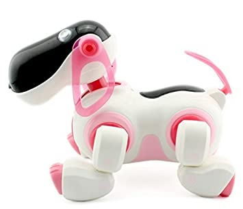 new pink smart baby toy dog infrared remote control series rc cute robot dogs sdp01