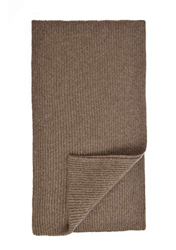 Scarf Cashmere Ribbed (Cashmere Ribbed Scarf in Wildbeest Made In Scotland)