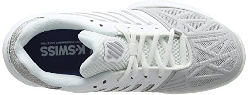 Performance Eu Da Carpet Scarpe swiss Tennis K white 37 Light Donna 3 silver Bigshot Bianco wWnaRnq56