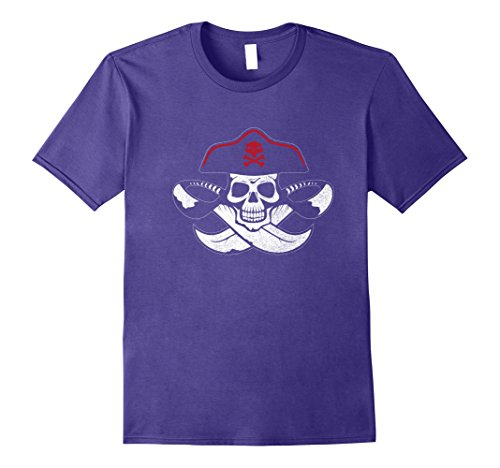 Mens Halloween Shirt | Awesome Pirate Costume Gift Idea Medium Purple