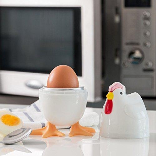 Diseño Microondas Cuecehuevos como Gallina: Amazon.es