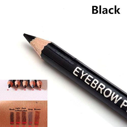 1 PC Leopard Women Eyebrow Pencil Waterproof Black Eye Brown Pencil With Brush Make Up Eyeliner Eye Liner Makeup Tools brow pencil;eyebrow pencil;loreal eyebrow pencil;loreal brow