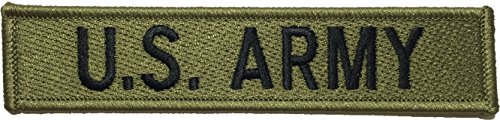 [U.S. Army US Military Tactical Name Tab Applique Embroidered Sew Iron on Emblem Badge Costume Patch - Green By Ranger Return (1PCS)] (Russian Costume Pattern)