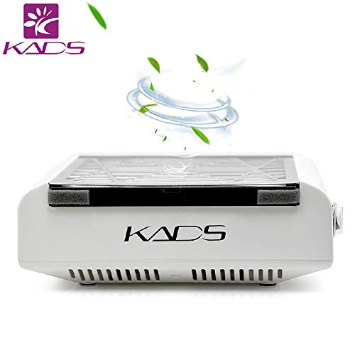 KADS Nail Dust Collector Nail Suction Dust Extractor Fan Collector Nail Vacuum Cleaner Fan No-spilling Filter (110V US Plug)