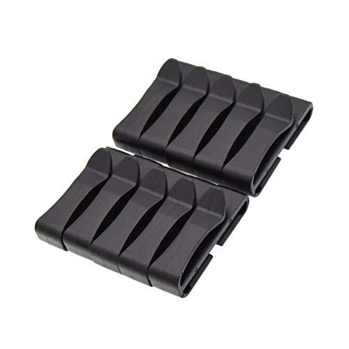 Quick-Slip Keeper Buckle Webbing Ending Clip Slider for MolleTactical Backpack (Size - 3.8cm)