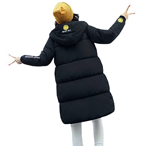 Casual C Coat Outwear Padded Down Winter Long Hooded Down Coat Korean Student Section Jacket Clothes Loose Eiderdown nihiug wTqt5vn