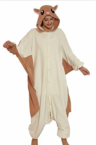 KING Fun Unisex Adult Flying Squirrel Pajamas Cosplay Sleepwear Extra Large A13