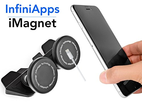 best sneakers 911cc 46a8a [Maker of iMagnet] Car Mount, infiniapps DuoMount [Magnetic Mount]. The  Original, Best Patented CD Slot Mount, iPhone X 8 7 Plus 6S 6 5s 5 SE,  Galaxy ...