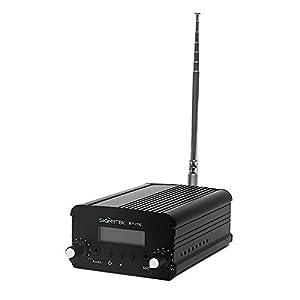 Signstek 7W 7C FM Transmitter Mini Radio Stereo Station PLL LCD with AntennaFashion Black