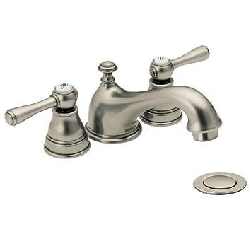 Moen T6103AN Kingsley Two-Handle Low Arc Bathroom Faucet, Antique ...