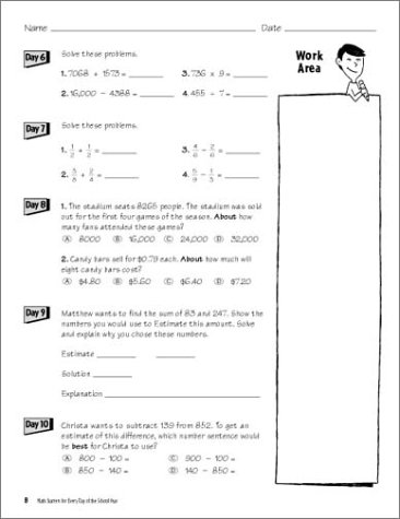 Counting Number worksheets math go worksheets : Amazon.com: Math Starters For Every Day Of The School Year ...