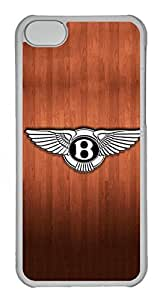 iPhone 5C Case, iPhone 5C Cases - Anti-Scratch Crystal Clear Back Bumper for iPhone 5C Bentley Car Logo 9 Shock-Absorption Hard Case for iPhone 5C