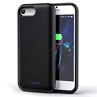Battery Case for iPhone 6/7/8, [Upgraded] 6000mAh Rechargeable Portable Charger Case Extended Battery Pack for iPhone 6/7/8 (4.7 inch)Protective Power Charging Case-Black