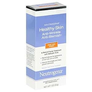 Neutrogena Healthy Skin Anti-Wrinkle/Anti-Blemish Treatment, Clear Skin Cream, 1 Ounce (30 g)