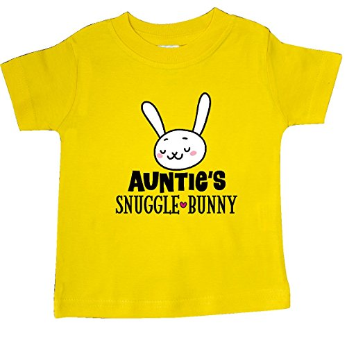- inktastic - Auntie Snuggle Bunny Easter Baby T-Shirt 18 Months Yellow 2eccc