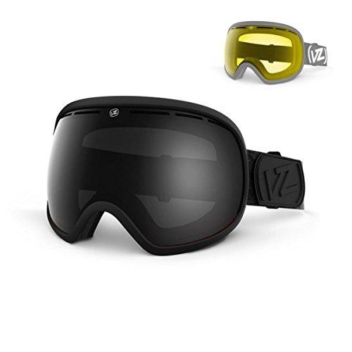 VonZipper Fishbowl Goggles, Black Satin, Black Chrome - Von Fishbowl Zipper