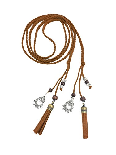 (Exotic Women Waist Belt/Rope/Chain with Tassel and Beads in 8 Colors)