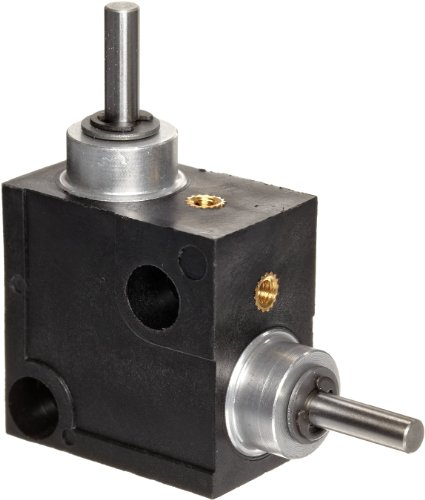 Right Gearbox - Huco 333.31.3.Z Size 31 L-Box Miniature Right Angle Gearbox, Acetal Case with Acetal Gears, Inch, 1.2