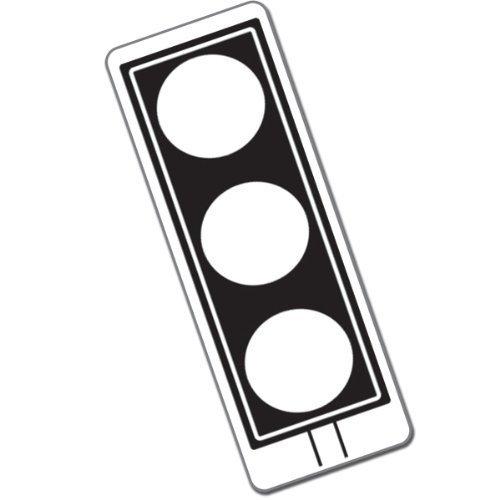 Traffic Light Pre-Inked Black Stamper Free P&P ()