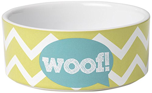 PetRageous 3.5 Cup Zigazaga Woof! Bowl, 6″, Lime Green For Sale