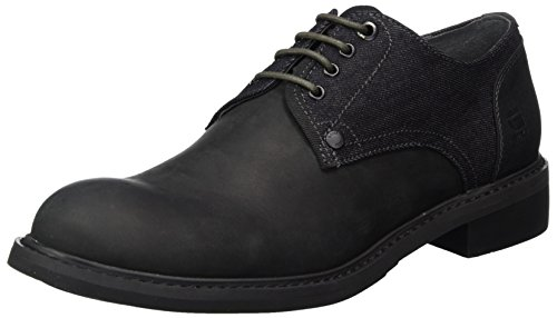 G-STAR RAW Herren Warth Derby Derbys Schwarz (Black)