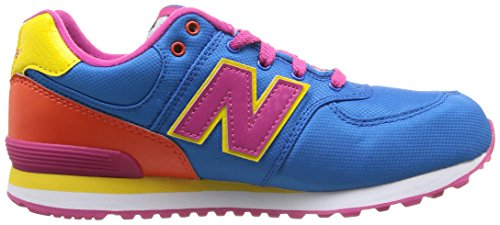 New Balance Kl574 Grade, Damen Sneaker Blau - Bleu (2Pg Blue/Orange)