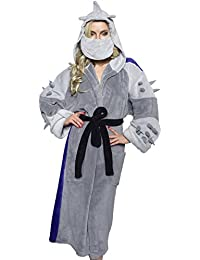 Men's TMNT Shredder Adult Costume Robe, Silver/Purple, One Size