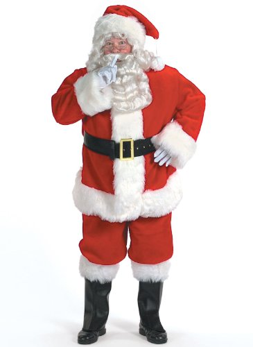 Halco Holidays Men's Professional Santa Claus Suit Costume, Size 58-62