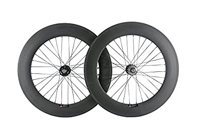 Queen Bike Carbon Fixed Gear Wheelset 700C 88mm Track Wheel Clincher Matte Finish