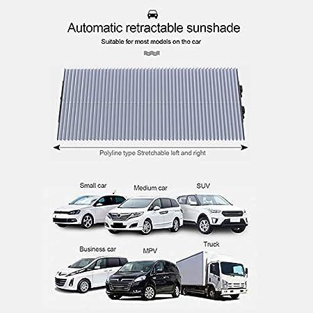 65//160 46//160 MOOHOP Car Sunshade Cover Made Of Memory Aluminium Alloy,Heat Insulation Visor Windshield Cover Retractable Windshield Visor Front Window Sunscreen Insulation Sun Shield,160 70 Cm