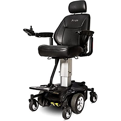 Pride Mobility - POWER PACKAGE ($500 VALUE) - Jazzy Air - Elevated Power Chair - Onyx Black