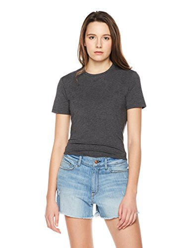 Something for Everyone Women's Jersey Crop Top With Tie Back X-Large Heather Grey (Tops Jersey Waist Tie)