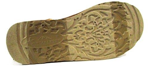 Montana Vest Faux Suede Frynser Aksent Studded Boots, Brun, Størrelse 7
