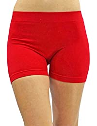 """Red Stretchy 10"""" Seamless Yoga Shorts"""