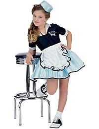 50's Favorites Costume Child's Car Hop Girl, Medium