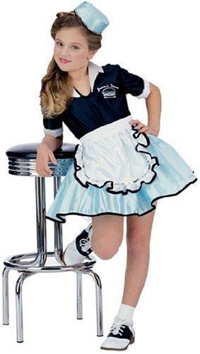 50s Diner Girl (50's Favorites Costume Child's Car Hop Girl,)