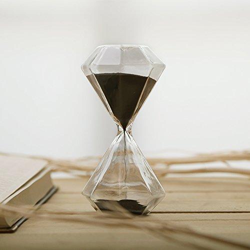 Diamond Hourglass (Graces Dawn Diamond glass hourglass 30 minutes with (black))