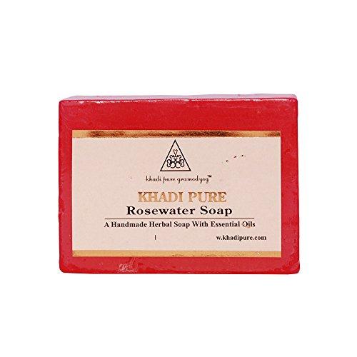 Khadi Natural Herbal Handmade Rosewater Soap (125 g) (Best Soap For Psoriasis In India)